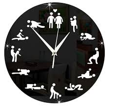valuable fun wall clocks clock 24hours novelty positions acrylic