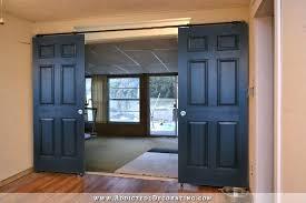 how to paint a 6 panel door rolling barn door style doors painted solid black best