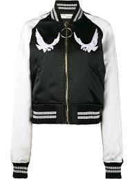off white bird embroidered er jacket black women clothing jackets off white shirt sizing