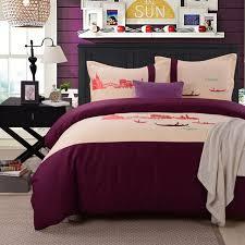 home textile famous city landscape venice italy embroidery designer bedding set cotton hotel bedding duvet cover
