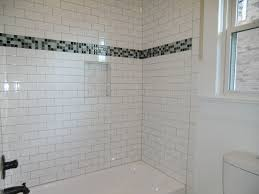 ... Fancy Bathroom Interior Design With Tile Bath Surround : Hot White  Bathroom Design With White Subway ...