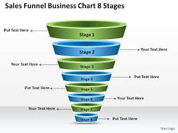 Business Plan Sales Funnel Chart 8 Stages Powerpoint
