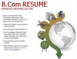 B Com Resume Format And Samples