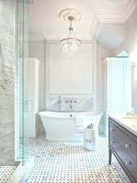 master bath chandeliers chandelier transitional bathroom