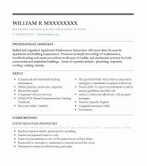 Maintenance Supervisor Resume Sample Custom Apartment Maintenance Supervisor Resume Sample LiveCareer
