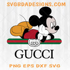 Gucci & Disney Inspired printable graphic art Mickey Mouse Laying Down on  the logo + vector art design hi quality, Cricut Silhouette Ready -  SvgBdaDesigns
