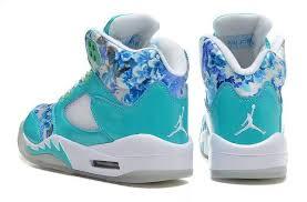 jordan shoes for girls 2015. womens air jordan 5 retro gs blue white blossom for sale-4 shoes girls 2015
