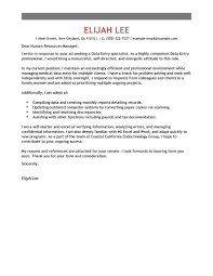 Ideas Collection Best Data Entry Cover Letter Examples With Sample