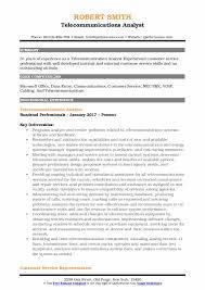Telecommunication Resume Telecommunications Analyst Resume Samples Qwikresume