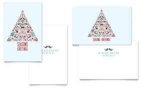 Holiday Art Greeting Card Template Word Publisher With