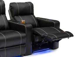 seatcraft dynasty leather gel home theater seating 5