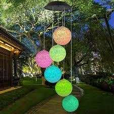 ĐÈN LED Năng Lượng Mặt Trời đèn chuông gió bóng tròn xoắn ốc đổi màu - Đèn  ngoài trời Thương hiệu OEM
