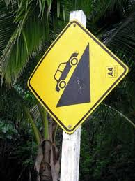 Image result for driving steep hill