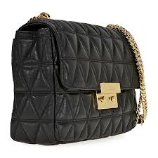 Michael Kors Sloan Extra Large Quilted Shoulder Bag- Black ... & Michael Kors Sloan Extra Large Quilted Shoulder Bag- Black Adamdwight.com