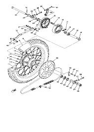 1979 yamaha yz125 yz125f rear wheel yz125f parts best oem rear ya4401 74 m147170sch218213