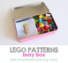 Lego Patterns Fascinating LEGO Patterns Busy Box MamaPapaBubba