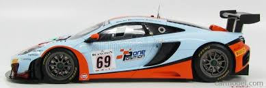 mclaren mp4 12c gt3 2013. truescale tsm141822r scale 118 mclaren mp412c gt3 team gulf racing n 69 mclaren mp4 12c gt3 2013 o