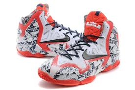 lebron red shoes. nike lebron james 11 white red navy blue for sale-2 lebron shoes