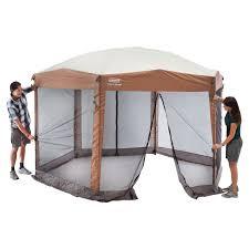 coleman back home 12 x 10 foot instant screen house hexagon canopy 2000028003 com