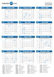 year calender 2008 calendar