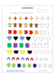 Patterns For Preschool Unique Preschool Worksheets Patterns 48 Myscres