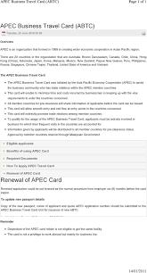 Apec Business Travel Card Abtc Pdf
