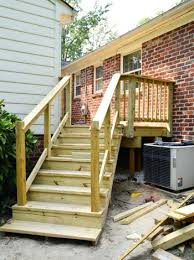 deck stair railing exterior railings attractive how to build a it s done in installing c19