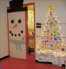 christmas office decorating themes. Christmas Doors Decorations Ideas Best Door Snowman Unique Office Decorating Funny For Contest Creative Themes C