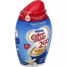 Other user submitted calorie info matching: Coffee Mate 2go Coffee Creamer Concentrated French Vanilla Creamers Sweeteners Fairplay Foods