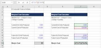 Standard Costing Formula Chart Marginal Cost Formula Definition Examples Calculate