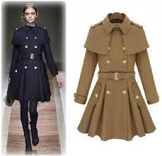 european 2016 women fashion cape pea coat poncho female winter long military style jacket thick navy blue khaki oversize wj3007 jackets jacket clothing