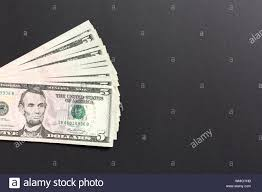5 Dollar Design Stack Of 5 Dollar Banknotes On Colorful Background Top View