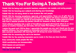 Thank You Teacher Quotes Thank You For Being A Teacher Poster 92
