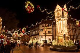 busch gardens tickets williamsburg. Clock Tower At Busch Gardens Decorated In Christmas Lights Williamsburg VA Tickets