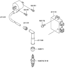 2007 kawasaki klx250s ignition system parts diagram