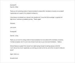 Rec Letter 8 Thank You Letter For Recommendation Pdf Doc Free Premium