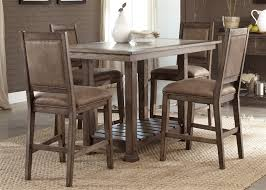 rustic counter height kitchen table brook 5 piece gathering counter height table set in rustic saddle