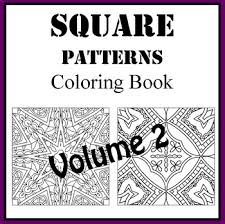coloring in patterns 2. Brilliant Coloring Square Zentangle Patterns Volume 2 Coloring Book In E