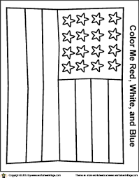 Simple American Flag Coloring Page Presidents Day American Flag