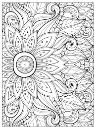 Flower With Many Petals Flowers Adult Coloring Pages