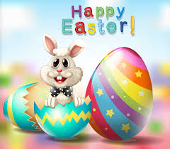 Happy Easter poster with bunny and rainbow eggs 519974 - Download Free  Vectors, Clipart Graphics & Vector Art