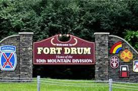 fort drum located 30 miles from canada has lake ontario to the west the adirondack mounns to the east and the st lawrence river and the thousand