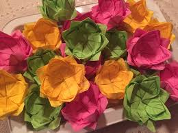 How To Make A Lotus Flower Out Of Paper How To Fold Paper Napkins Into A Lotus Blossom Flower