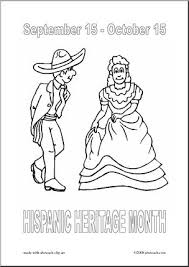 Hispanic Heritage Coloring Pages Coloring Page Hispanic Heritage Dancers Abcteach
