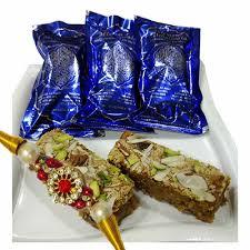 mithai4all rakhi gifts r372 with suleman mithaiwala special aflatoon designer rakhi