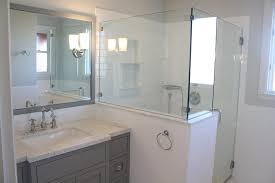 Bathroom Remodelwith Frameless Shower Enclosure Carrera Marble Fascinating Bathroom Remodel San Francisco