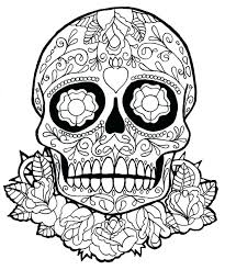 Free Skull Coloring Pages For Adults At Getdrawingscom Free For