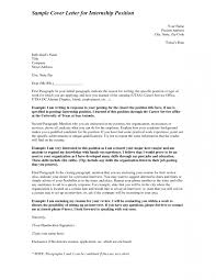 Cover Letter Template For Writing A An Internship Position Sample In ...