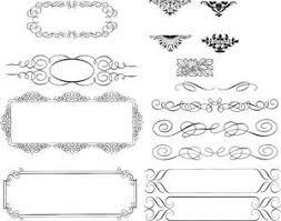 アンティーク調 ヴィンテージ風のフレーム飾り枠飾り罫無料素材