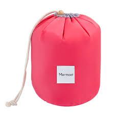 mermaid travel cosmetic bag makeup bag waterproof barrel cases kit organizer bathroom storage carry case multifunctional